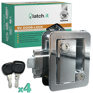 RV Mechanical Door Lock - Chrome