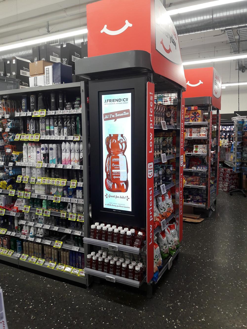 Freshchoice digital signage, supermarket aisle screens, FMCGNZ
