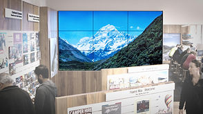 4k 3x3 video wall resolution, installed by Loop Media in Christchchurch iSite Art Centre