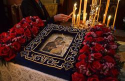 """From thy Holy Icon, O Lady Theotokos..."""