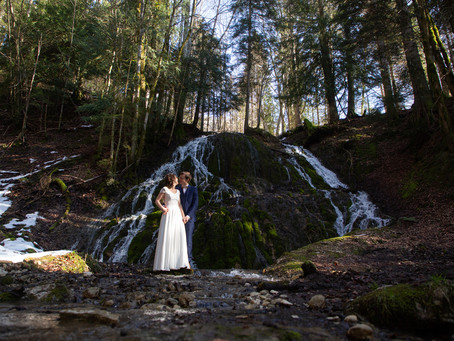 Une séance photo mariage dans le Vercors