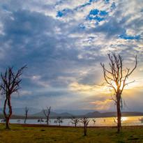 Sunset over lake Oloidien