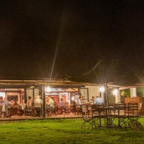 The bistro at night