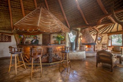 Bar area at Chui Lodge