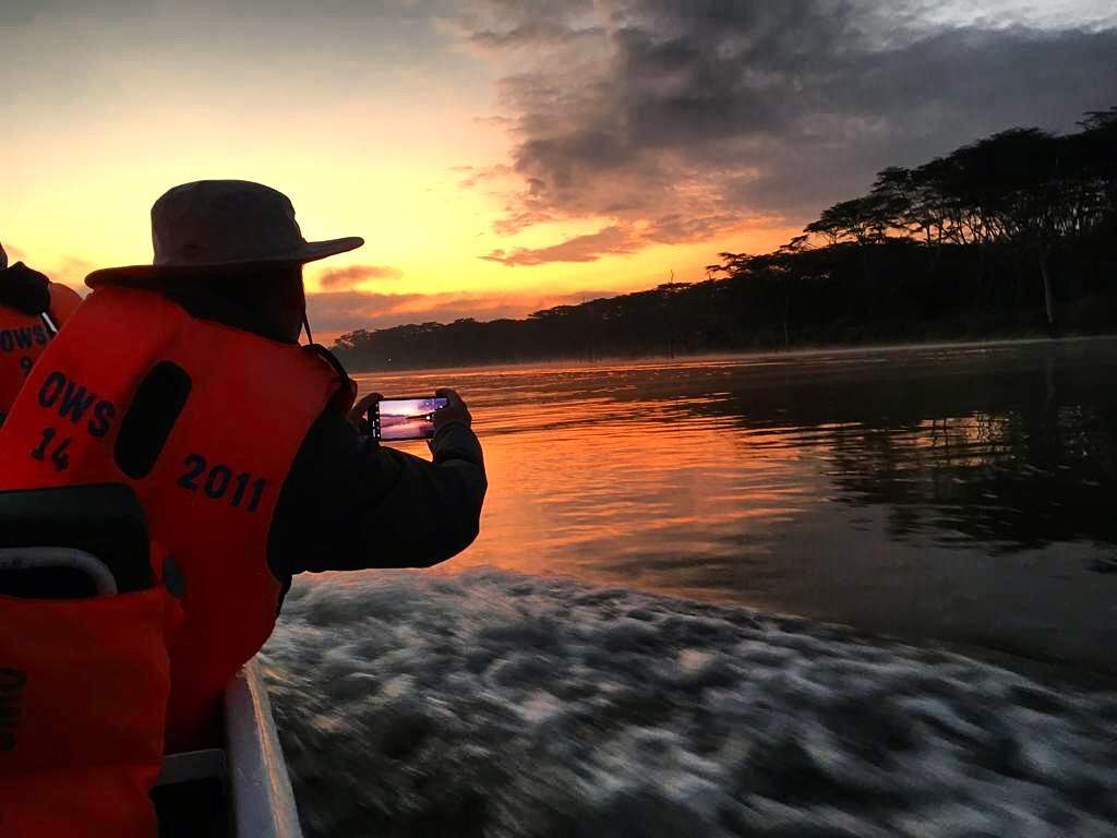 Early morning sunrise boat ride