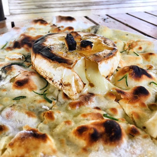 Baked Camembert on Foccacia