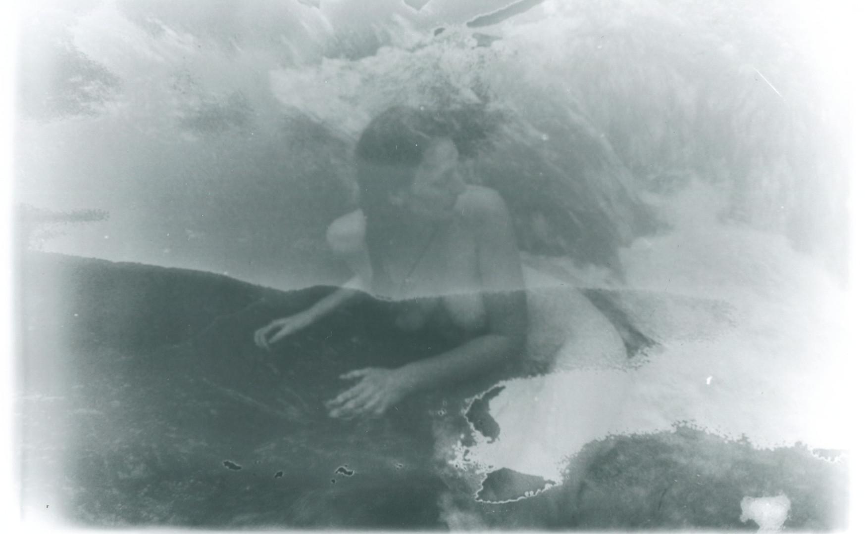 water nude experimental darkroom photography