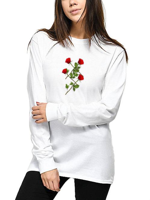 """Braided Roses"" - womens long sleeve shirt"