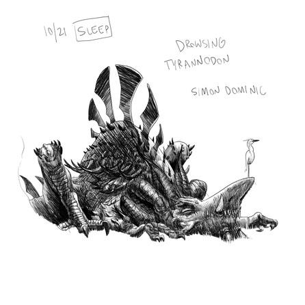 Drowsing Tyrranodon - Simon Dominic