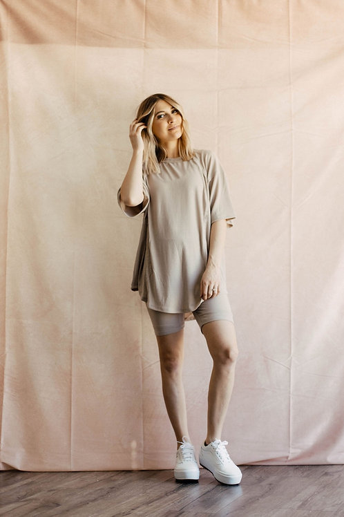 Cool Girl Biker Set in Taupe