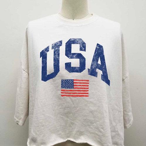 American Girl Tee in Cream