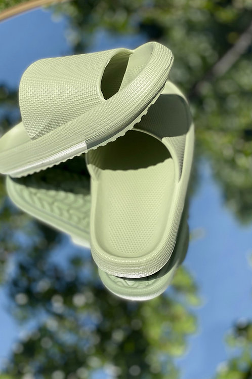 Walking on a Cloud Sandals in Green