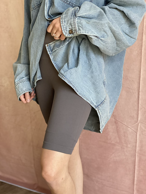 All That Biker Shorts in Charcoal