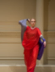 Eurythmy Recital Gabrielle Armenier, eurythmy Lee-Chin Siow, violin Svetlana Smolina, piano Maurice Ravel Tzigane Weill Recital Hall at Carnegie Hall New York City Eurythmy Eurythmie Art of Movement stage arts Costumes Veils Silk