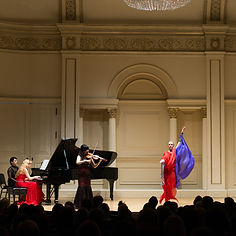 Gabrielle Armenier, eurythmy Lee-Chin Siow, violin Svetlana Smolina, piano Maurice Ravel Tzigane Weill Recital Hall at Carnegie Hall New York City Eurythmy Eurythmie Art of Movement stage arts Costumes Veils Silk