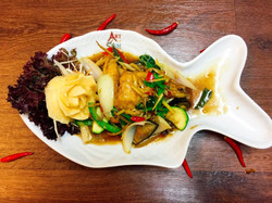 SPICY STIR FRY WITH SEA BASS