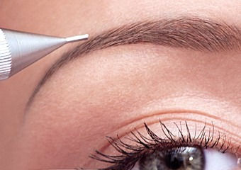 Augenbrauen Puderschattierung