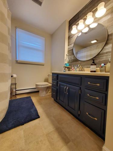 Bathroom wall and vanity repaint