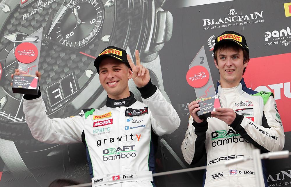 Nick Foster Podium Blancpain GT3 Asia GT3 R Porsche