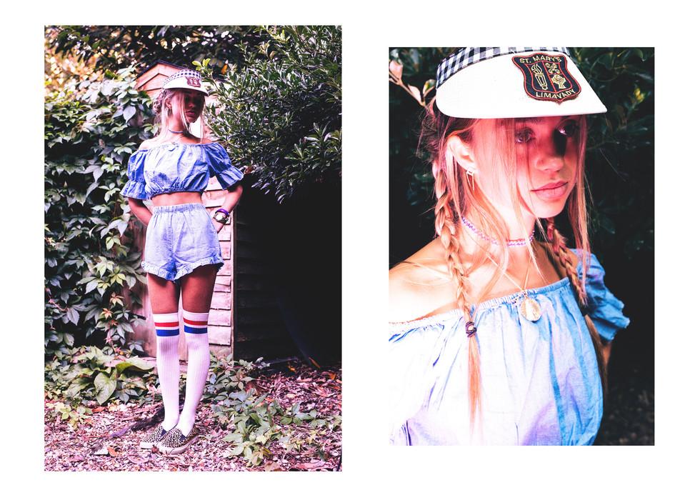 Photograoher Barney curran Stylist Honor Dangerfield  Model Amelia Windsor Hair/ makeup Rhian Webster