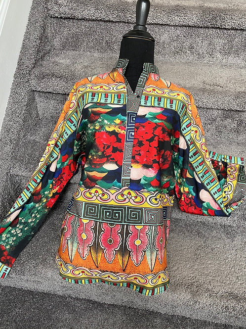 Alberto Makali Chinese Collar Blouse