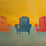 """""""3 Colorful Beach Chairs"""""""