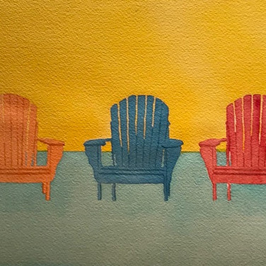 """3 Colorful Beach Chairs"""