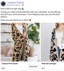 FB Ad example 1