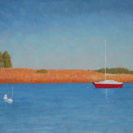 """""""Lone Red Sailboat"""""""