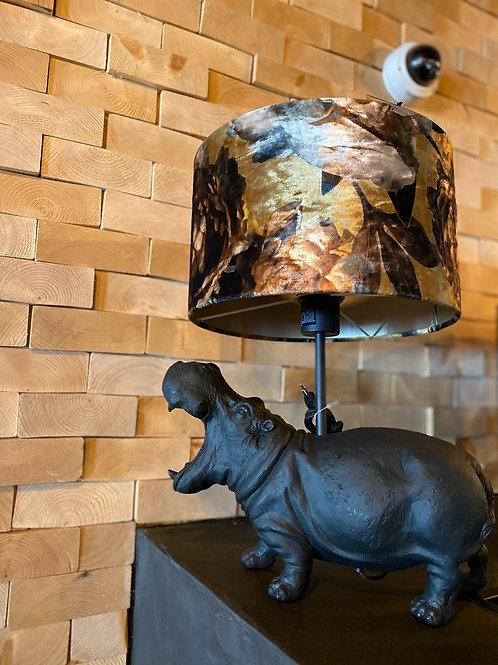 Hippo lamp met kap