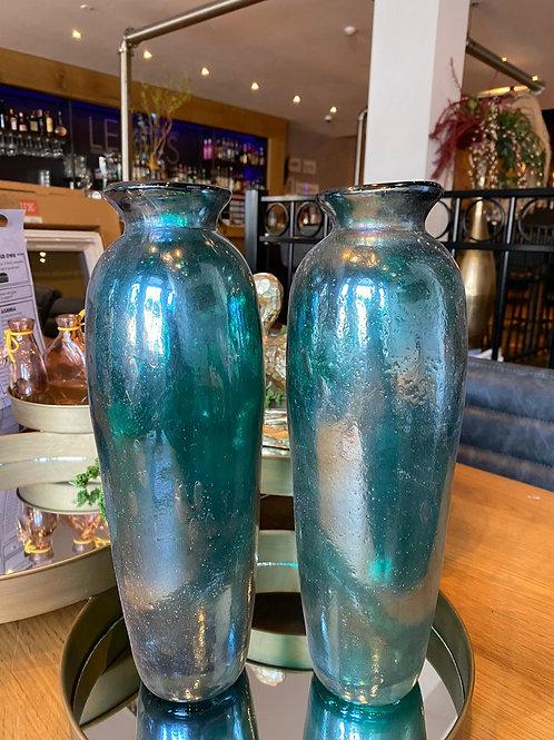 Glazen vaas met zeemeerminnen look