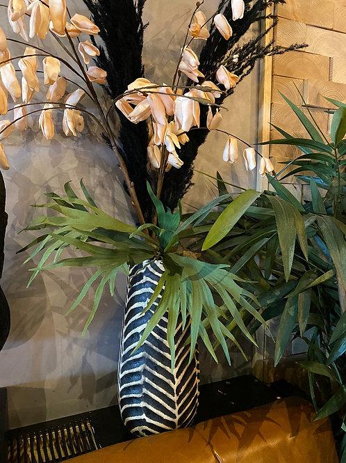 Vaas van keramiek met zebra print