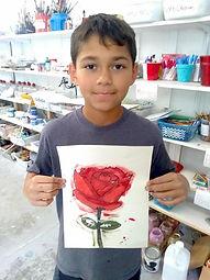 Boy w_rose painting.jpg