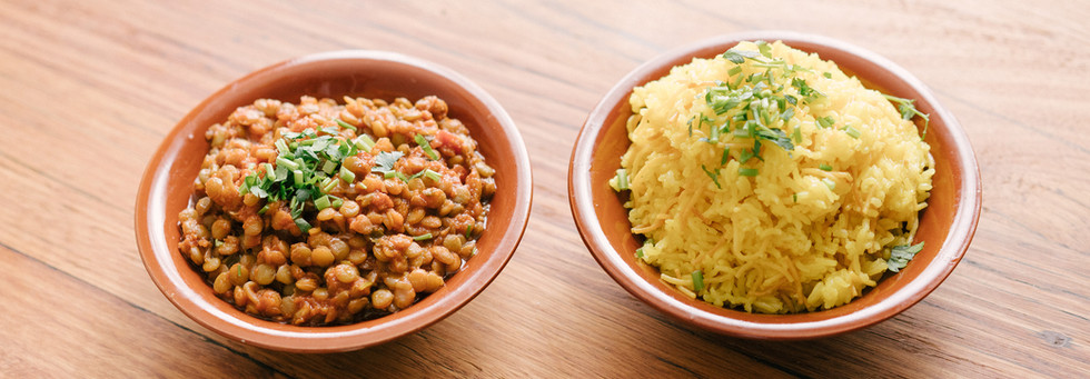 Lentils with Safron Rice