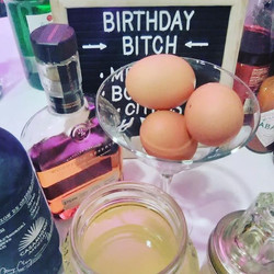 Serving up the #birthdaybitch at Kate's