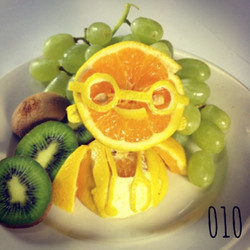 #100happydays how many people get to make doctors out of oranges at work__