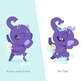 Experimenting in #illustrator using just