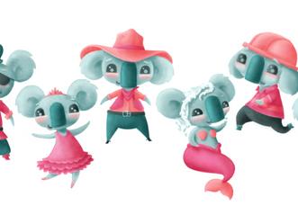 Koala's in Kostume