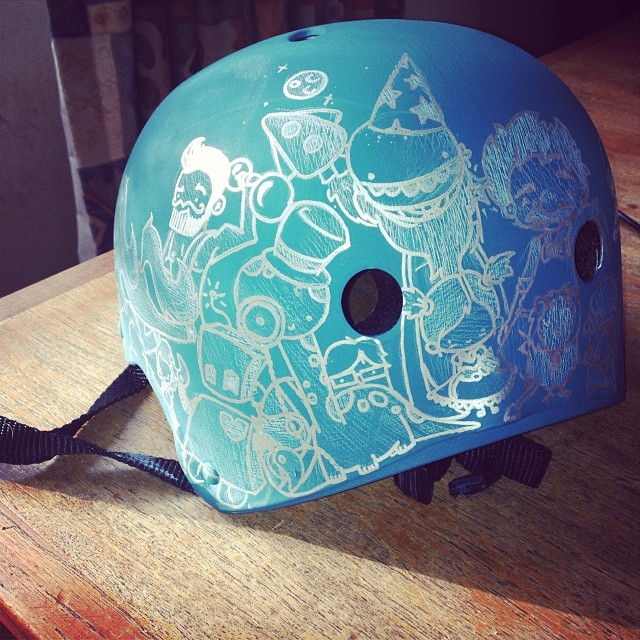 Helmet in progress