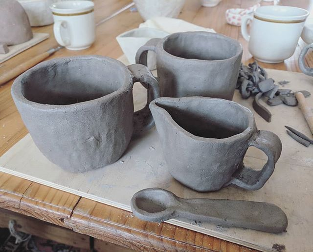 Cashed in on Part I of my pottery class