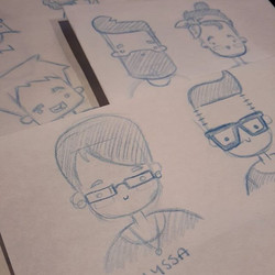 Chapkins time!_Character card sketches_#WIP #Chapkins #munchkins #CharacterDesign