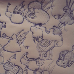 Bagpipe inspired doodles