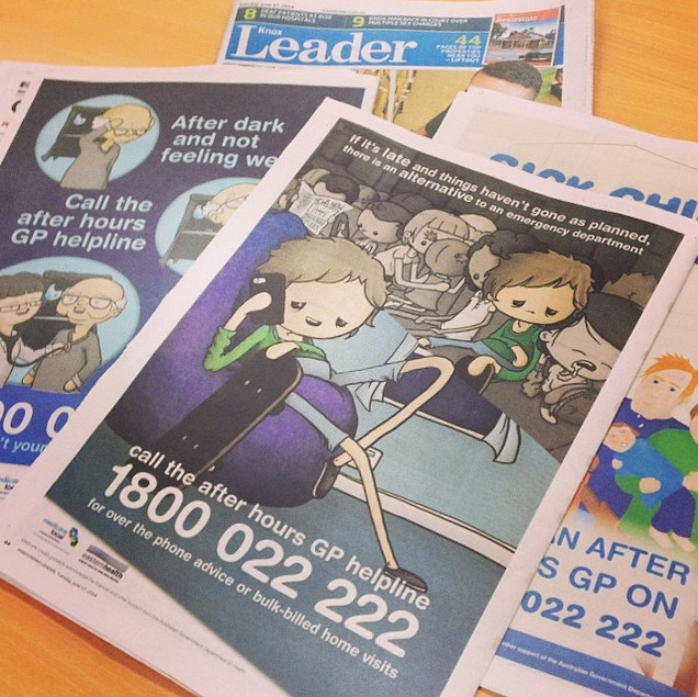 Couple of ads in local papers, whatevs..