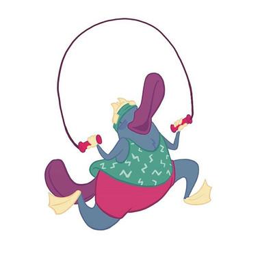Its aerobics time with Pancake! #charact