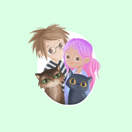 Josh, Leah, Schmoodle and Chicken.png