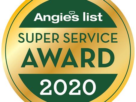2020 Angies List Superior Service Award Winner!