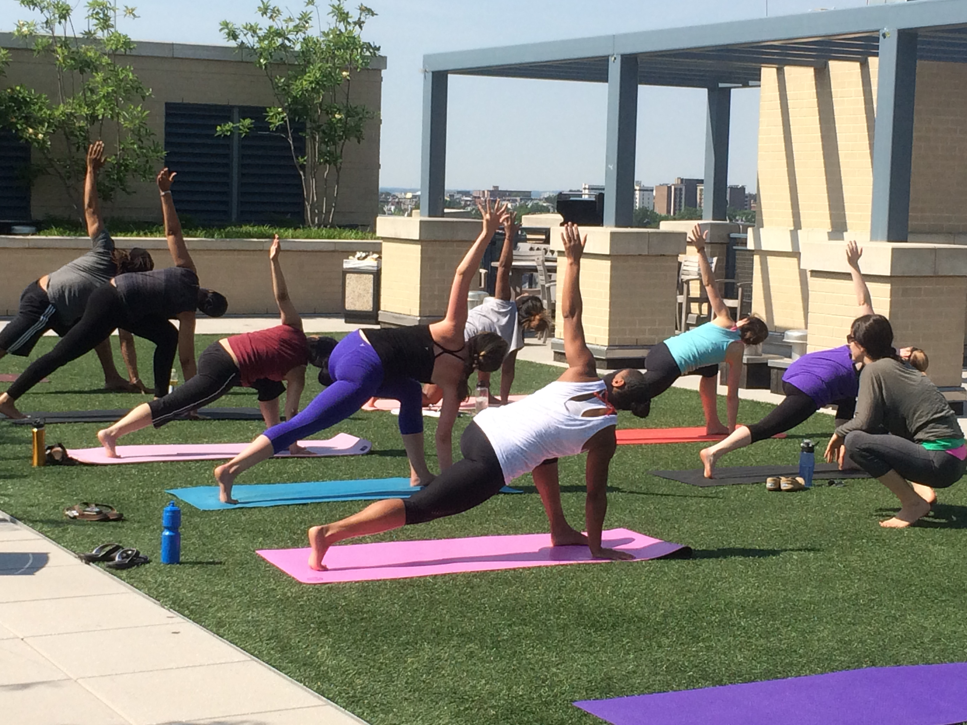 Roof Top Yoga