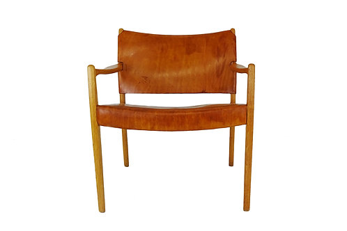 1950's Mid-century Per-Olof Scotte Premiär leather Easy Chair