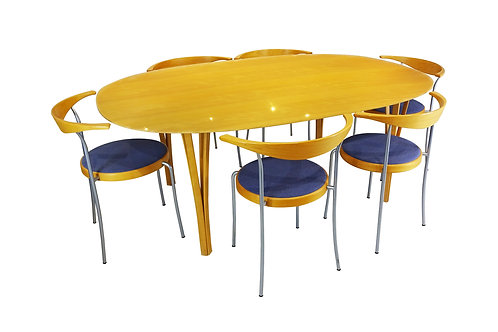 Mid Century Super Ellipse dining table