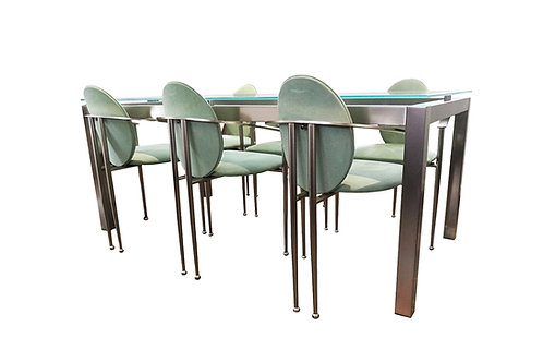 Belgo Chrome dining set